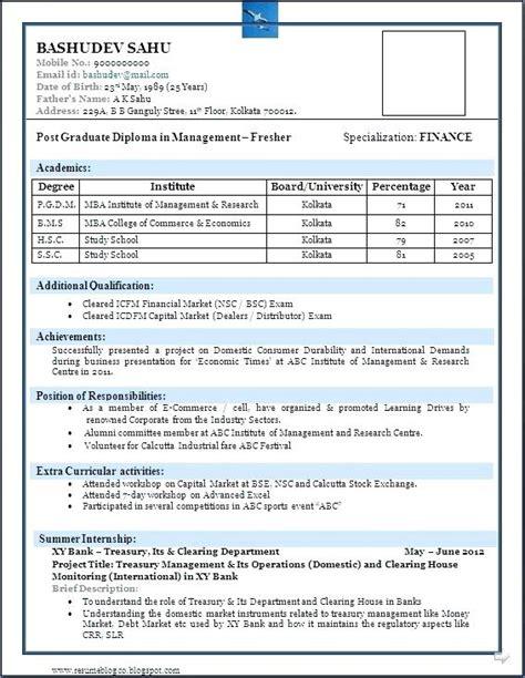mba hr fresher resume format krida info