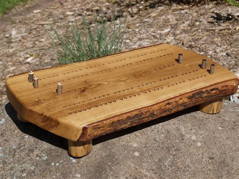 Handmade Cribbage Boards - cribbage board handmade bur oak cribbage board rustic