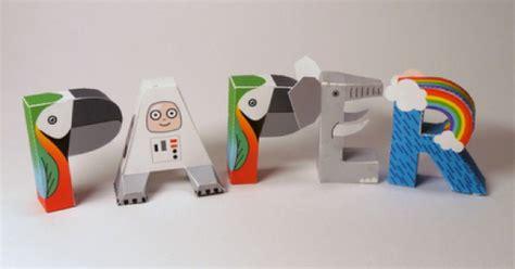 Paper Craft Letters - alphabet en papercraft paper fr