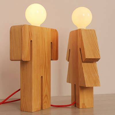 novelty lights discount code novelty and lovely human shape wooden designer table l