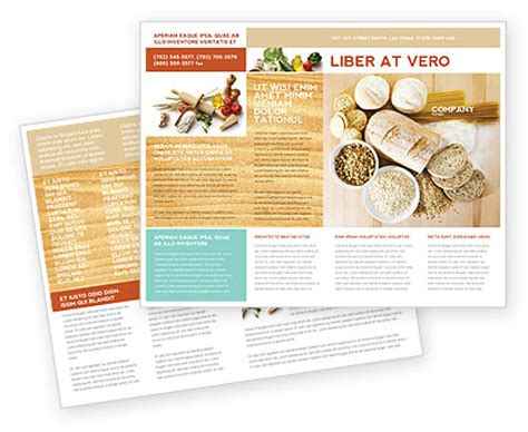 staple food brochure template design and layout