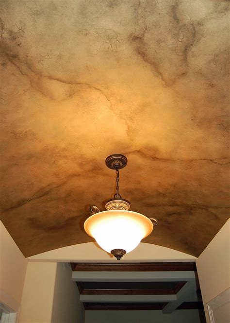 metallic crackle faux finish on ceiling davis creative