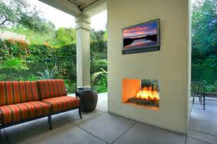 Two Sided Fireplace Indoor Outdoor - outdoor modern two sided fireplace by gary sewell