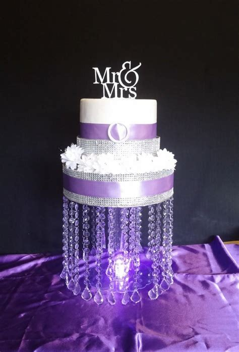 cupcake stand with led lights pendant drop acrylic cake stand with led