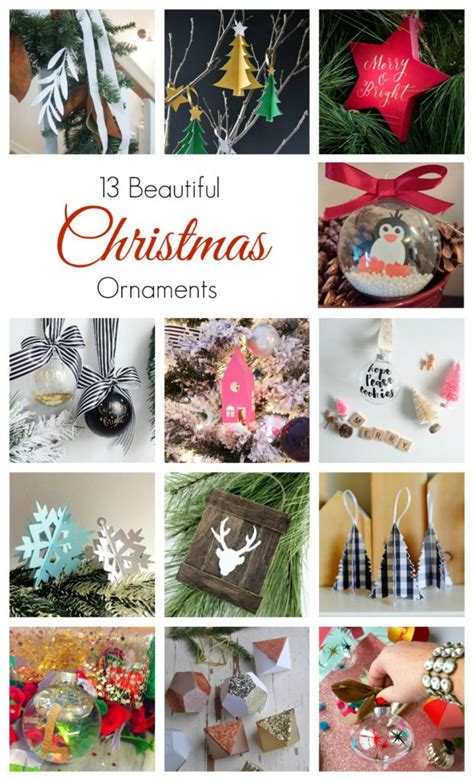Canadian Airline Christmas Giveaway - handmade holiday diy ornaments with cricut free cut files a giveaway teacups