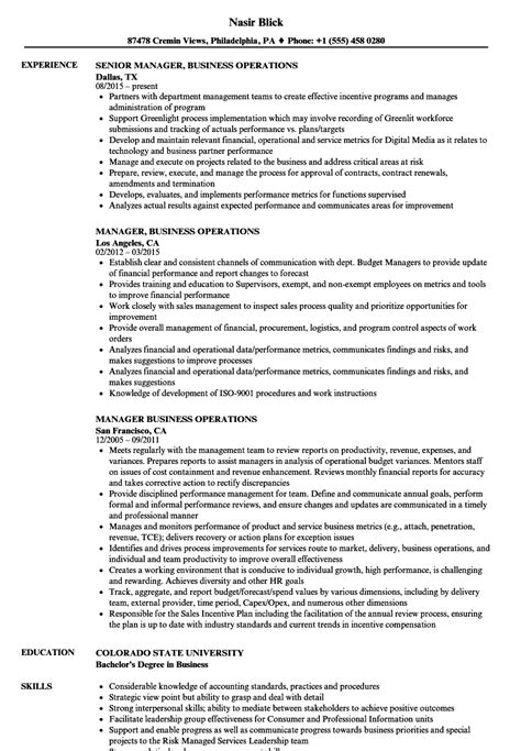 career objective for operations profile business management resume objective manager business