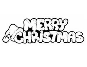 Merry christmas coloring pages only coloring