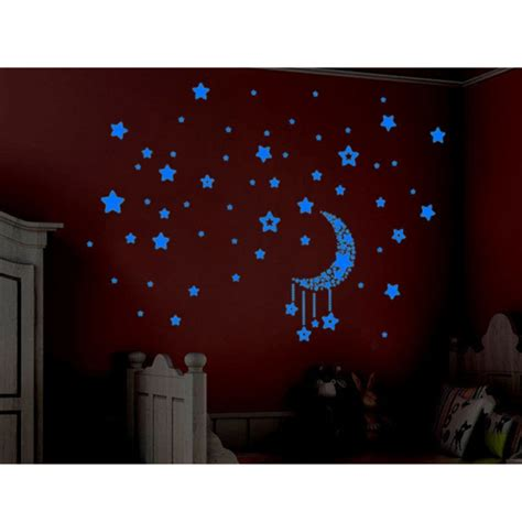 luminous glow in the diy stickers 3d moon