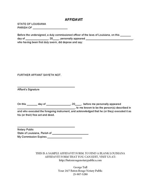 commercial affidavit of template simple affidavit form template exle featuring some