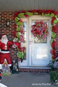 Christmas door decoration for holiday spirit