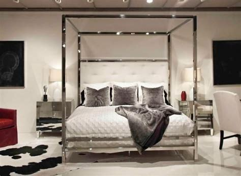 Metal Canopy Bedroom Set Polished Stainless Steel Canopy Bed Bed Bernhardt