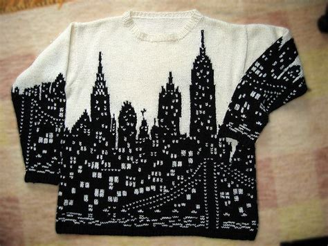 Sweater Intarsia Skylin 17 best images about new york on map of new york new york and ravelry