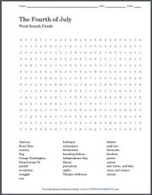 fourth of july word search puzzle free printable