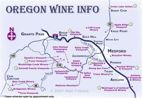 map of oregon vineyards the oregon wine info