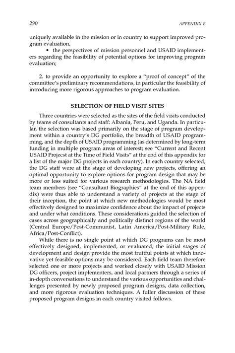 Field Report Format