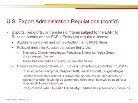supplement 2 to part 744 of the ear ppt russia ukraine sanctions export controls