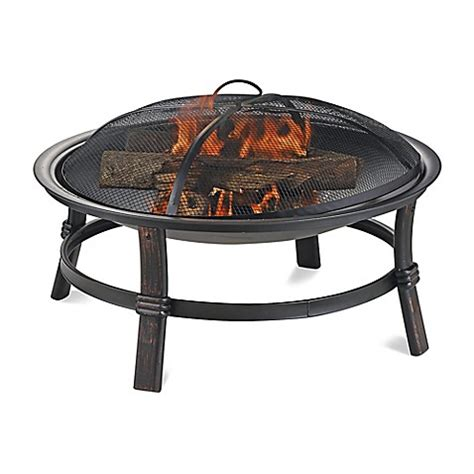 Uniflame Firepit Buy Uniflame 174 Endless Summer 174 Wood Burning Outdoor Pit In Brushed Copper From Bed Bath Beyond