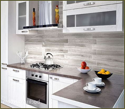 Light Grey Subway Tile Backsplash Kitchen Home Design Ideas