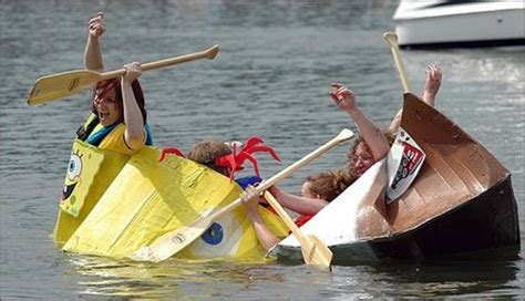 cardboard boat sinking 17 best images about cardboard races boats on pinterest