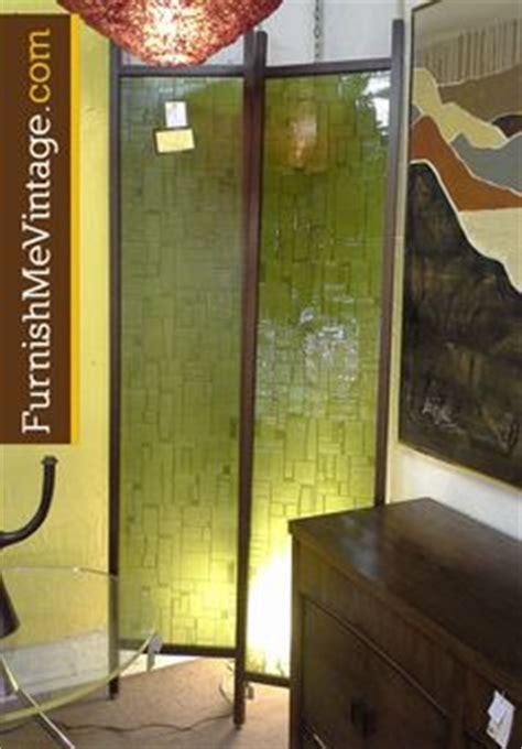 retro single panel teak tension room divider midcentury