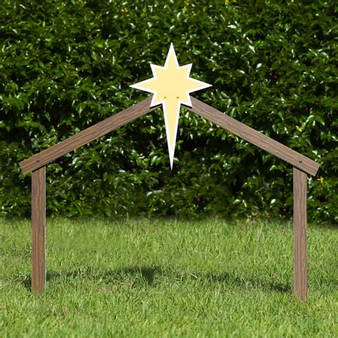 manger outdoor stable classic outdoor nativity set outdoor nativity store