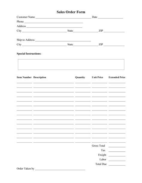 40 Order Form Templates Work Order Change Order More Free Form Templates