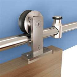 Barn Door Hardware Stainless Steel Rolling Barn Door Hardware Kit Stainless Steel Top Mount
