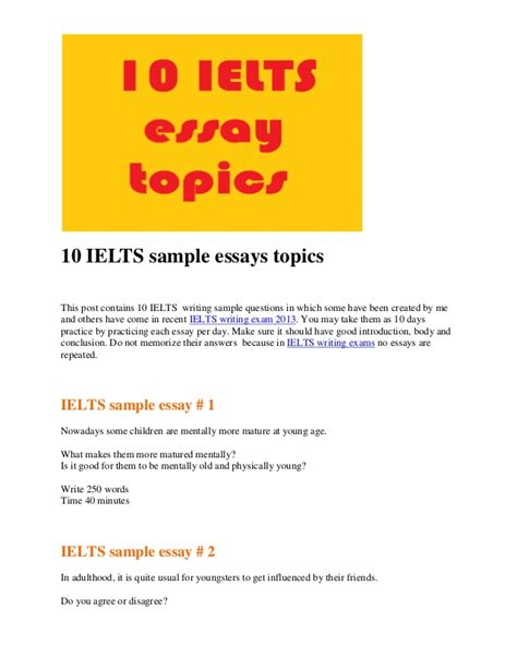 Ielts Letter Topics With Answers