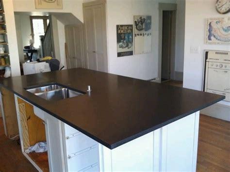 Honed Black Granite Countertops by Black Honed Granite