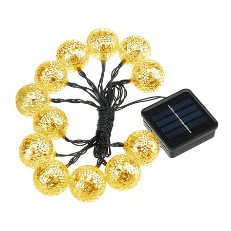 summer solar string lights topelek 12 led outdoor globe