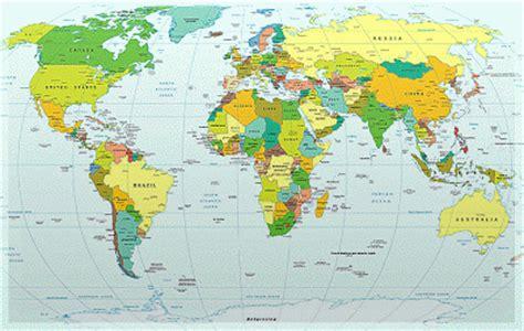 flat map of the world world flat map