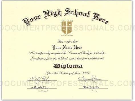 best photos of high school diploma template microsoft