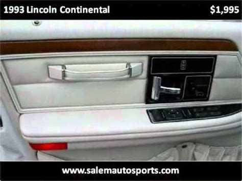 manual repair autos 1993 lincoln continental electronic toll collection 1993 lincoln continental problems online manuals and repair information