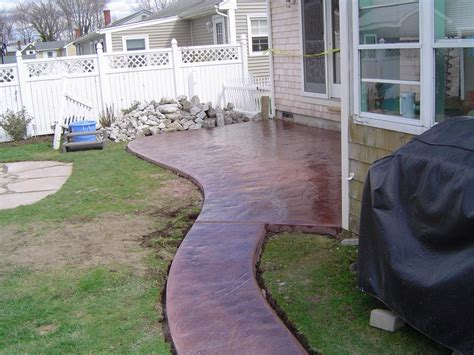 Smooth Concrete Patio by Artistic Sted Concrete Of Rhode Island Atios Sted