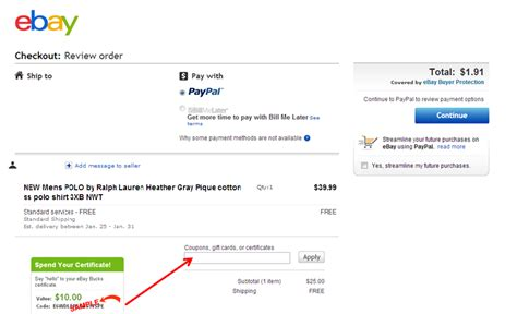 ebay code ebay ebay bucks certificate