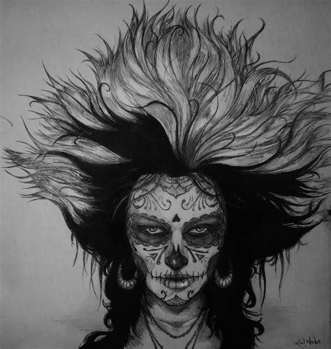 dia drawing dia de los muertos by kalnobe on deviantart