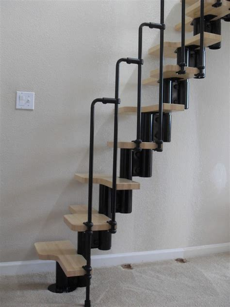 How To Build Stairs In A Small Space loft ladder contemporary staircase portland by