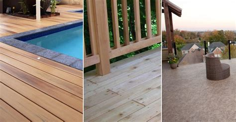 Composite Vs Wood Decking by Decking Material Options Composite Decking Vs Cedar Wood