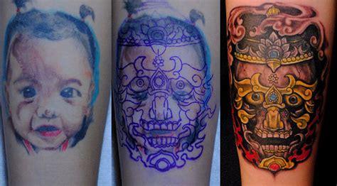 slashedbybutchrosca cover up tibetan skull cover up