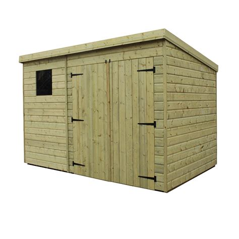 pressure treated tongue  groove pent shed