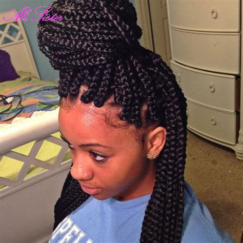 synthetic or human hair box braids crochet box braids hair synthetic braiding hair senegalese