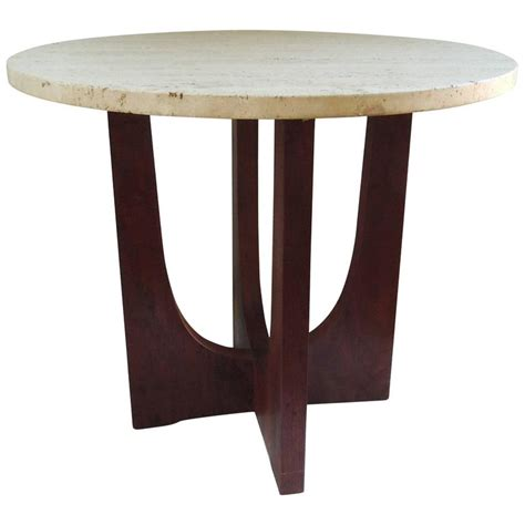 Pier One Side Table Pier One Side Table Pier Luigi Colli Walnut And Travertine Side Table For Sale At 1stdibs