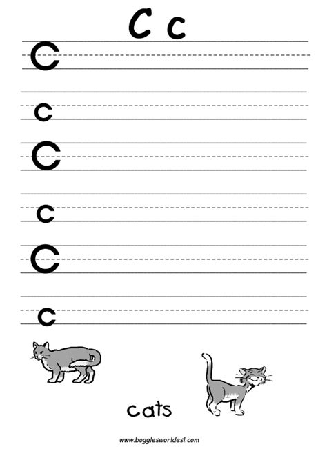 printable worksheets letter c letter c alphabet worksheets