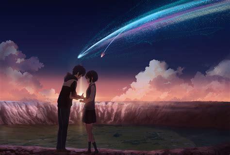 Kaos Kimi No Na Wa Your Name Sky Hobiku Anime Store 君の名は kimi no na wa your name starry sky nagareboshi