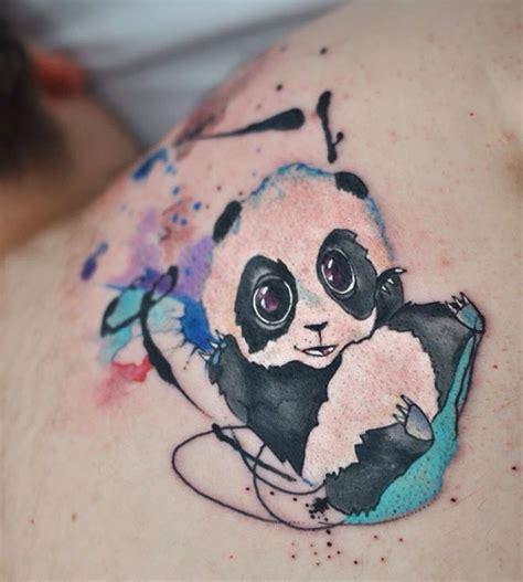 watercolor tattoos panda 1000 ideas about panda tattoos on tattoos