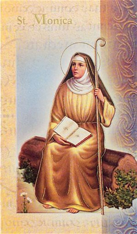 st monica lives   saints card