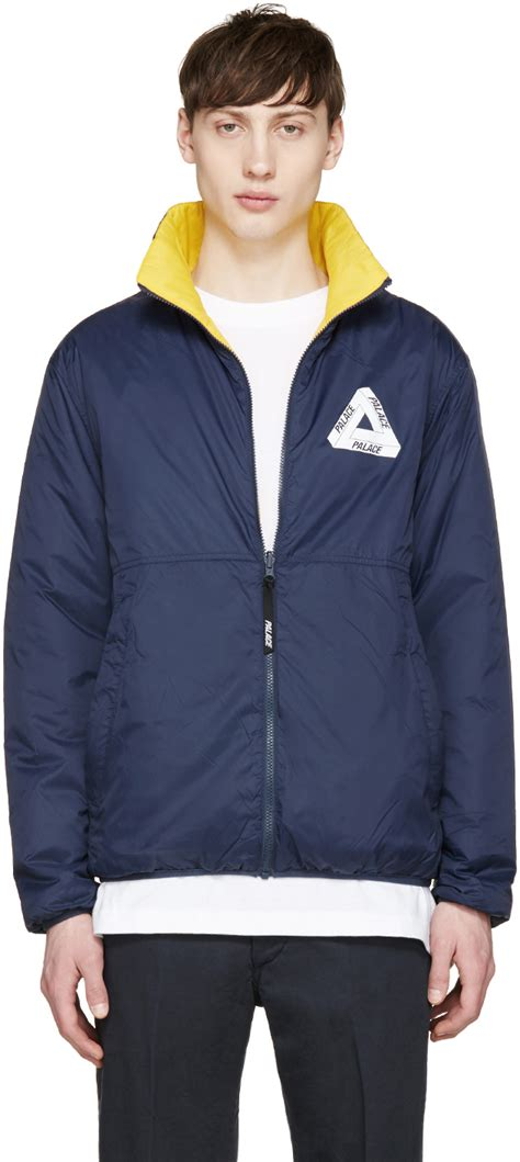 Jaket Navi Black Yellow 1 lyst palace navy and yellow thinsulate reversible jacket in blue for