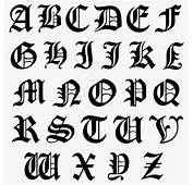 Capital Letters Initial Sticker Typeface Old English