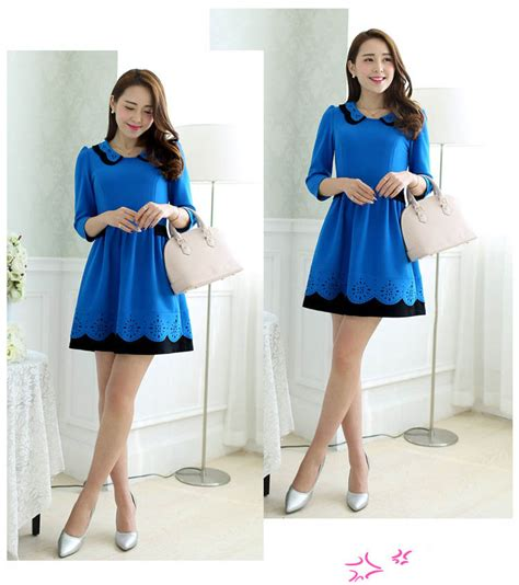 Mini Dress Gaun Import Black 211708 dress korea murah gaun wanita dress import model korea