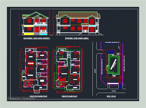 luxerious building   apartments  dwg plan